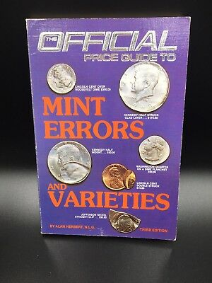 The Official Price Guide To Mint Errors And Varieties Book 3rd