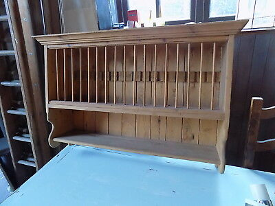 antique pine plate rack holds 18 plates