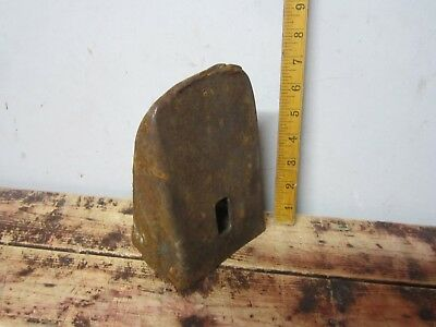 vintage rusty steel anvil leather craft metal bending blacksmith tool steampunk