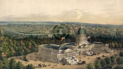 Washington City from the new dome of the Capitol © 1856 looking west Reprint