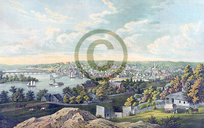 View of Georgetown D.C.© 1855  by E. Sachse & Co Reprint