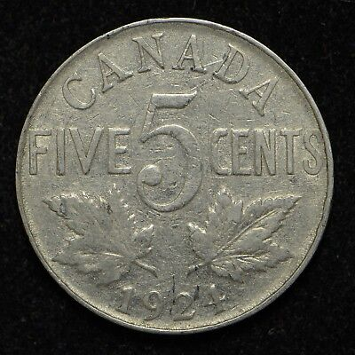 1924 Canada Five Cents (bb577)