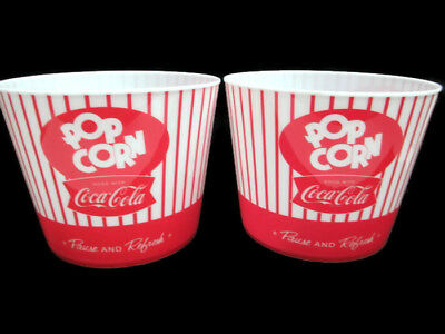 Coca-Cola  Set of 2 PopCorn Buckets Pop-Art And Classic Patterns- BRAND NEW