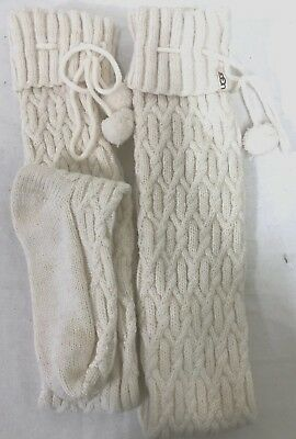 5aedbdaef New Womens Ugg Cream Gold 1018815 Sparkle Cable Knit Thigh High Socks Size  9-11
