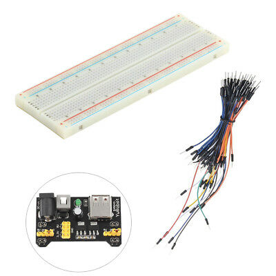 MB-102 Breadboard Protoboard 830 Tie Points 2  Test Circuit BSG