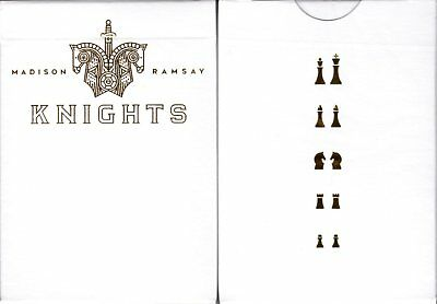 Knights Gold Playing Cards Poker Size Deck USPCC Ellusionist Custom Limited New