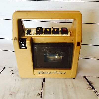 Vintage Fisher Price Cassette Player 1980 Childs Tan Tape Deck *FOR PARTS REPAIR