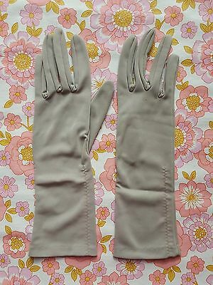Vintage GLOVES evening 1960s 1950s ladies accessory Size 7 pair of grey DENTS