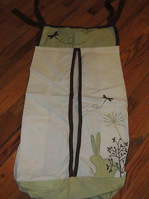 KIDSLINE BUNNY MEADOW DIAPER STACKER Organic Cotton Green Brown