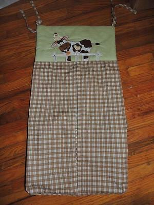 Nojo Farm Babies Diaper Stacker Cow Chicks Green Brown