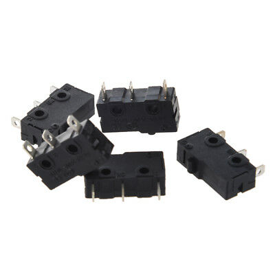 New 5 x 3-Terminal SPDT 1NO 1NC Momentary Micro Switch 3A/250VAC 5A/125AC D9Y6