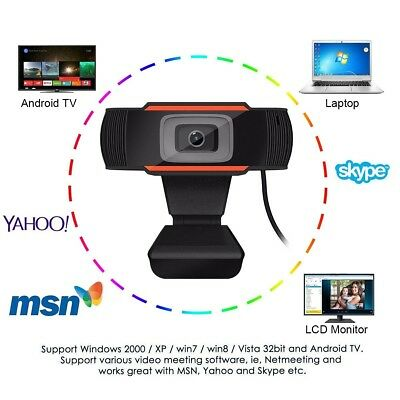 HD Webcam, Sea Wit PC Computer Web cam Mini Camera with Microphone for Laptops