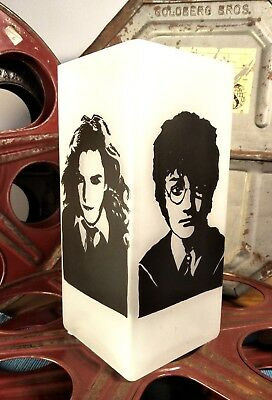 Harry Potter Hand Painted Craft Pop Art Glass Table Lamp Unique One Of A Kind