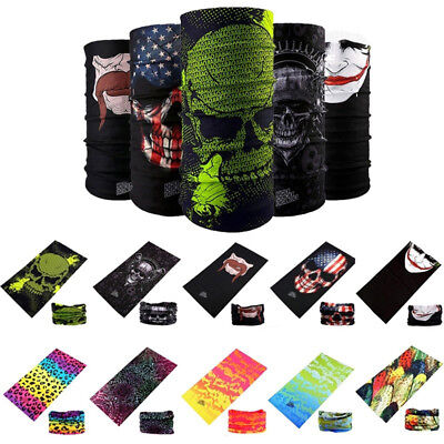 Outdoor Bandana Head Face Mask Neck Gaiter Snood Headwear Beanie Tube Scarfs New
