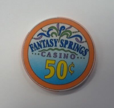 50c Fantasy Springs Casino Chip, Indio, CA.