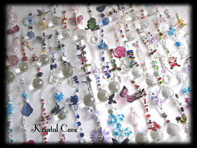 BULK PACK OF 5 MIXED CRYSTAL SUNCATCHERS -~~((Plus FREE GIFT))