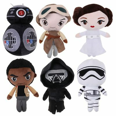 Star Wars The Last Jedi BB-9E Darth Vader Rey Leia Plush Dolls Toy 20cm Gift
