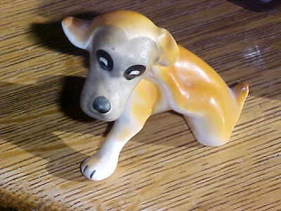 Ceramic Dog Itching Mutt Puppy Great Gift For Dog Lovers Vintage Collection