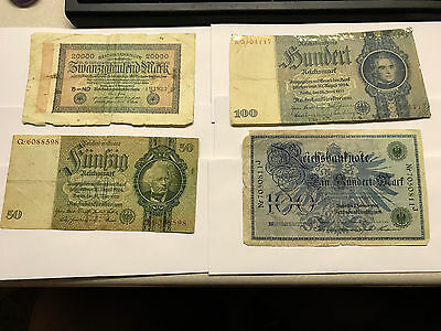 Lot of 8 German Bank Notes Circulated #4693*