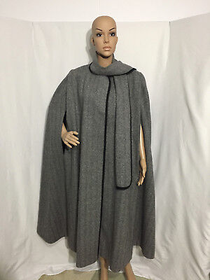 """""""Alorna"""" Womens US Union Made Vintage Wool Blend Fully Lined Cape One Size MINT!"""