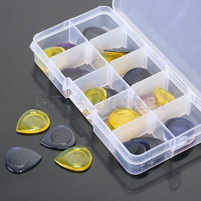 40pc 1/2/3mm Thickness Clear Heavy Metal Rock Bass Guitar Picks with Box One Set