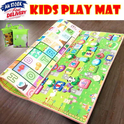 3 Size 1.8x2m XXL Kids Baby Crawl Play Mat Game Alphabet Rug Floor Blanket