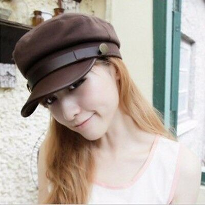 Unisex Fashion New Retro Style Plain Faded Military Hats Cadet Newsboy Caps