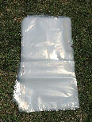 100 Heavy Duty Strong Large Plastic Bags Clear 350 mmx700 mm for Manure,Compost