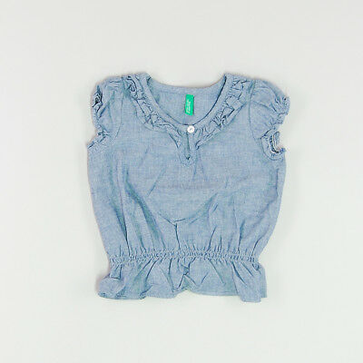 Blusa color Denim oscuro marca Benetton 6 Meses  171923