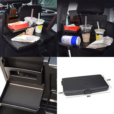 Folding Car Back Seat Dining Table Drink Food Meal Cup Tray Holder Stand Desk
