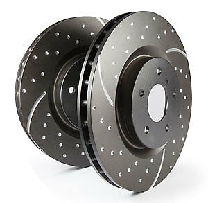 EBC Turbo Grooved Front Vented Brake Discs for Audi Cabrio 2.3 (91 > 92)