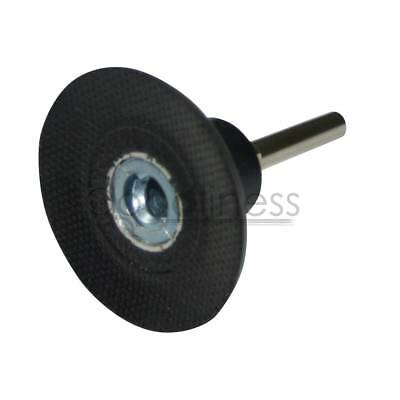 "1* 2"" Roll Lock Mandrel Sanding Disc Roloc Type R Pad Holder Arbor 1/4"" Shank"