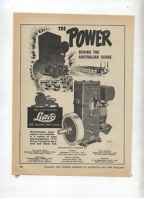 Lister Stationary Engine Advertisement removed from 1951 Farming Magazine