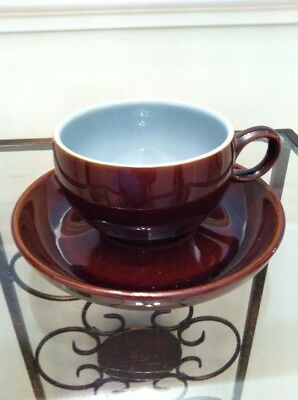 Denby Homestead Brown Cup And Saucer