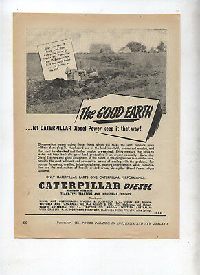 Caterpillar Diesel Tractor Advertisement removed from 1951 Farming Magazine