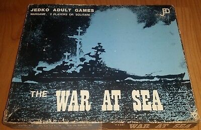 """WWII War Game: The War At Sea - Jedko Games Australia 1975 """"2 Players or Solitar"""