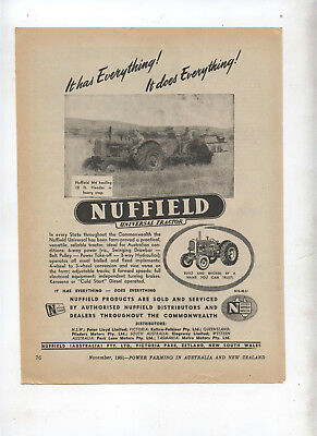 Nuffield Universal Tractor Advertisement removed from 1951 Farming Magazine