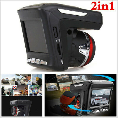 1080P 2in1 LCD HD Car Video Camera Recorder Radar Speed Detector DVR Dash Cam