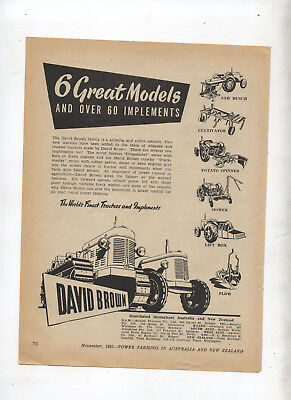 David Brown Tractor Advertisement removed from 1951 Farming Magazine