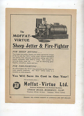 Moffat Virtue Utility Jetter Advertisement removed from 1951 Farming Magazine