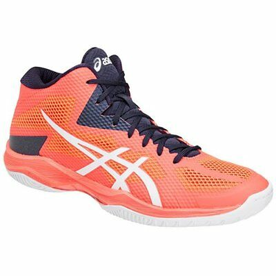 ASICS VOLLEYBALL SHOES V SWIFT FF MT Mid TVR491 Orange White