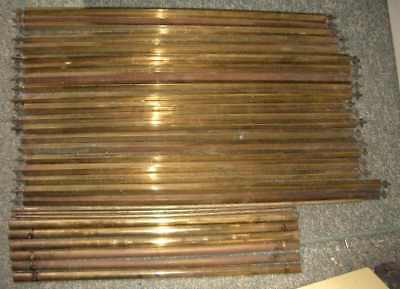 29 assorted antique brass stair rods (no clips) Victorian and maybe Georgian