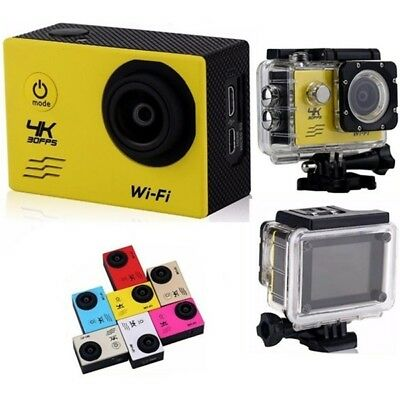 Sport Action Camera 4K 30fps Full HD 1080P 16.0M Wifi 30Mt. Imperméable à L'Eau