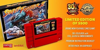 Street Fighter II 30th Anniversary limited collectors Edition SNES iam8bit