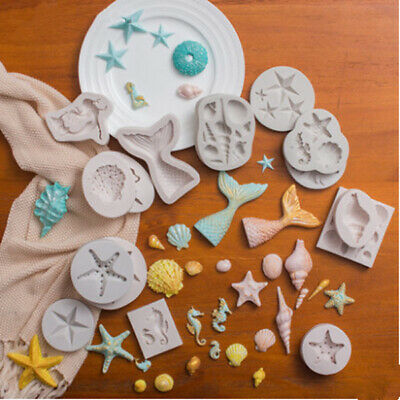 3D Beach Sea Shells Silicone Fondant Mould Cake Mould Sugarcraft Fondant Mould