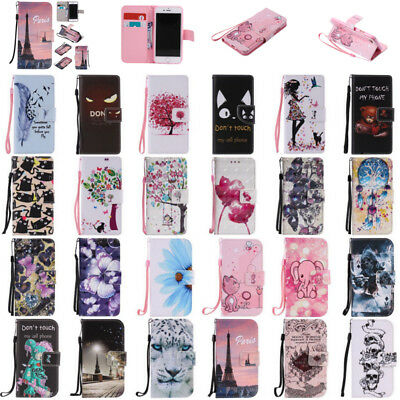 For Samsung Galaxy S8 + Note 8 S7 S6 Edge S5 S4 Wallet Leather Flip Case Cover
