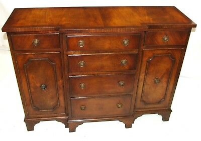 Antique Style REPRODUX Bevan Funnell Mahogany Breakfront Sideboard Base Server