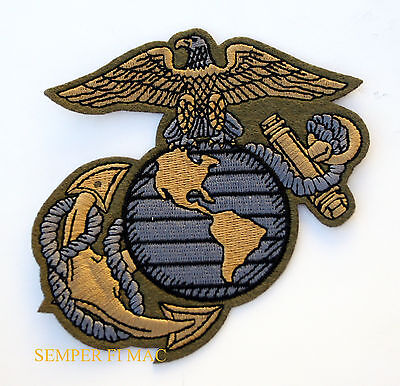 Us Marines Od Green Logo Seal Ega Patch Mar Div Maw Fssg Fmf Pin Up Mr Sl454B