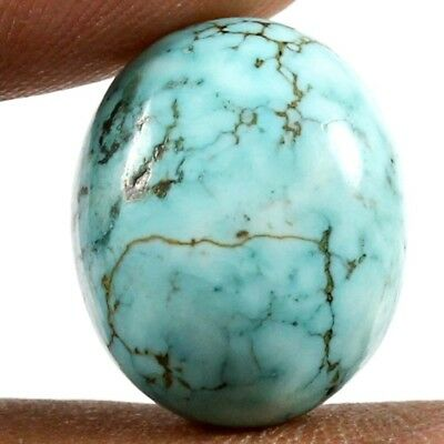 15 cts Natural Excellent Quality Turquoise Oval Loose Cabochon Gemstone Jewelry
