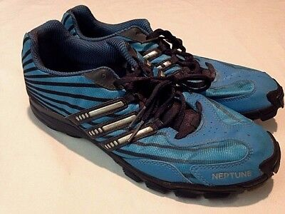uk availability bbbce 815da Adidas Neptune Aqua Blue Track Shoes Mens Size 10 (missing spikes)